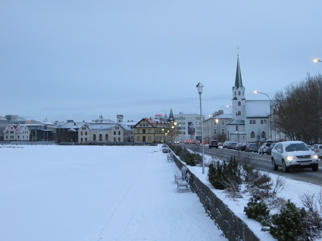 celebrating New Year's Eve in Reykjavik