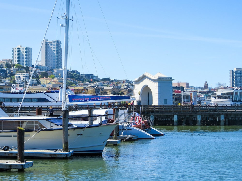 solo female travel in san francisco means nice walks on the water