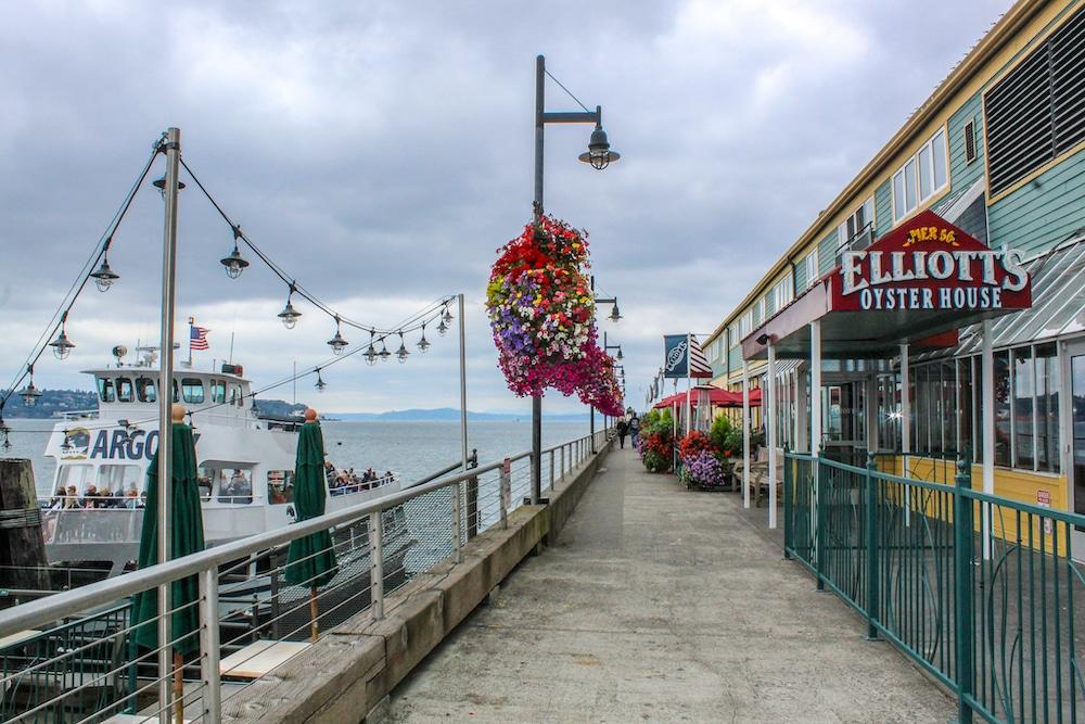 taking a walk alone in seattle on the pier