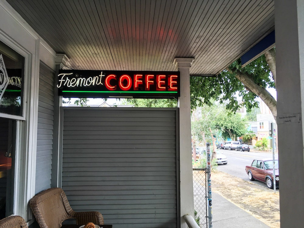 downtown fremont seattle has lots of coffee shops