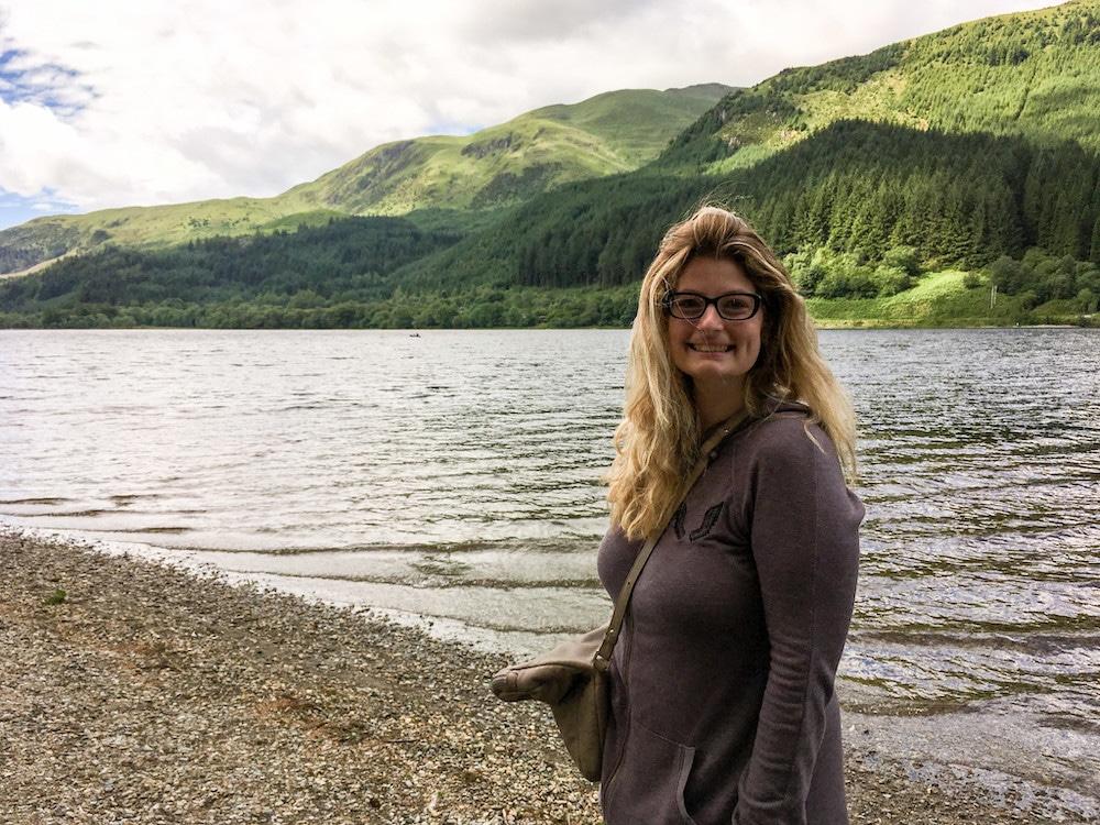 solo female travel scotland smile