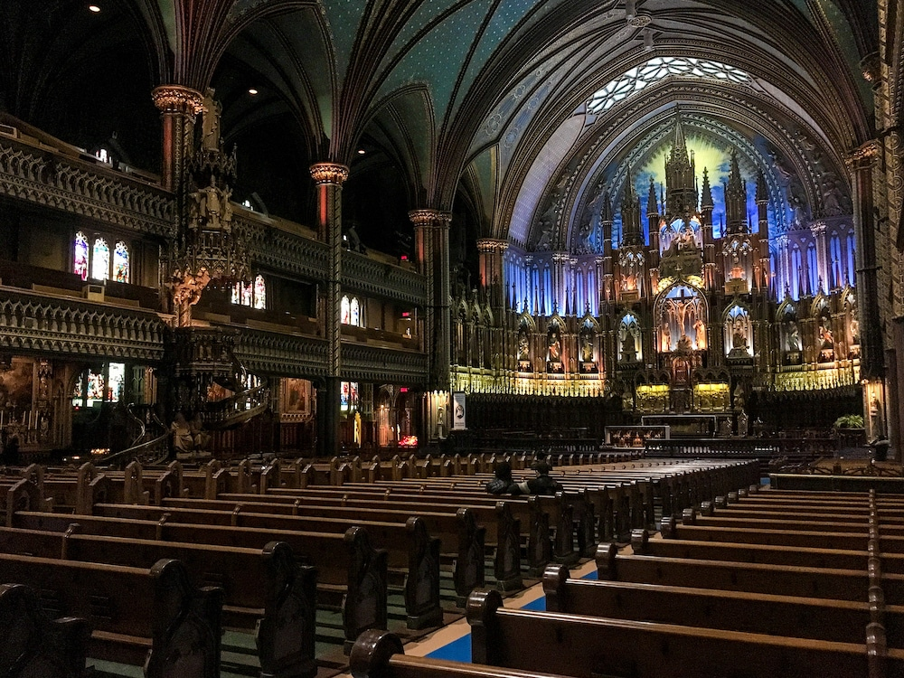 not sure what to do in montreal alone? check out the great churches