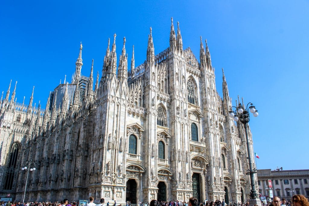 one day in milan you gotta see the duomo