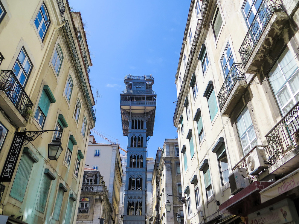 with 2 days in lisbon go on the Santa Justa Lift!