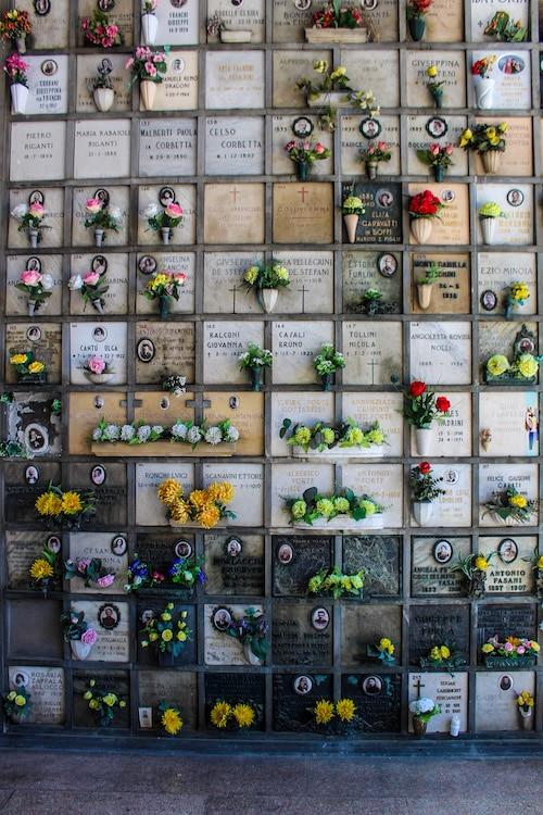 cemetery in milan is beautiful
