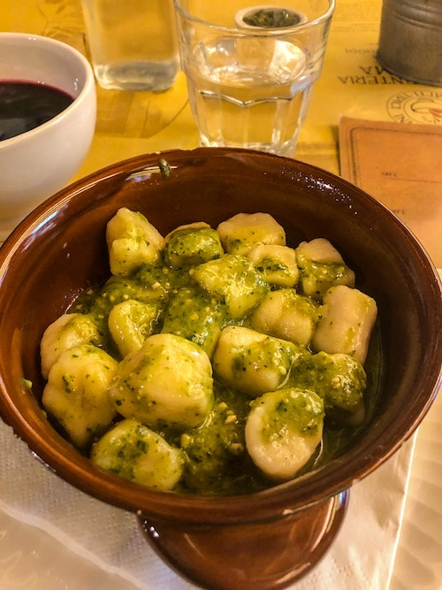 1 day in milan and eating gnocchi