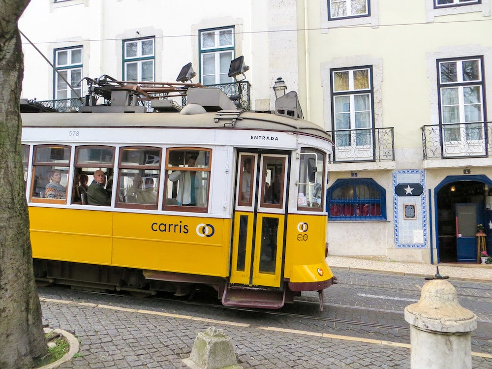 riding the tram with a weekend in lisbon