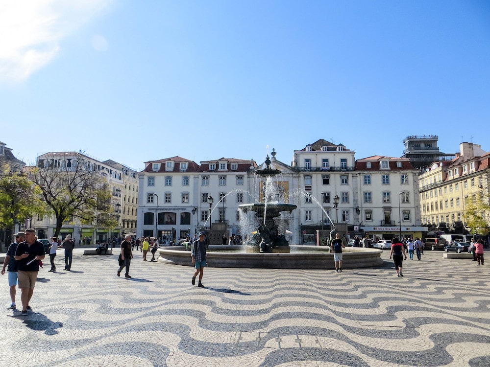 2 days in lisbon at rossio square