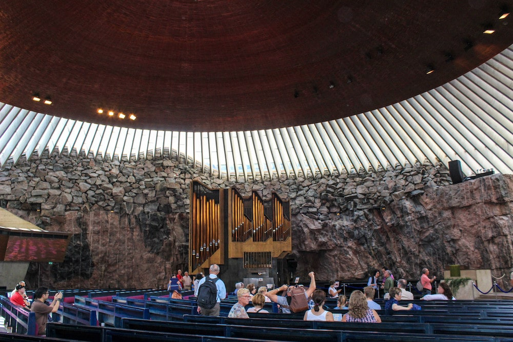 the coolest rock church in helsinki
