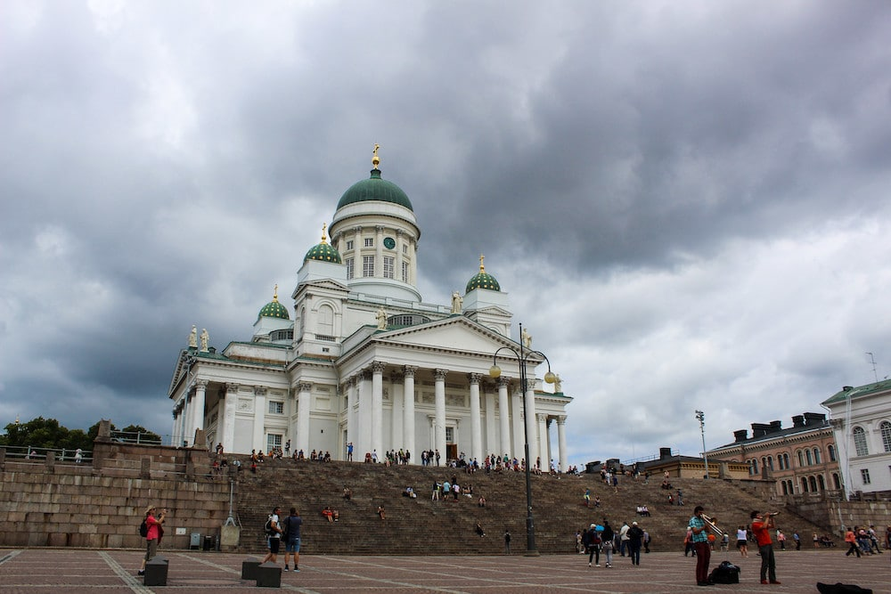 cloudy day helsinki cathedral