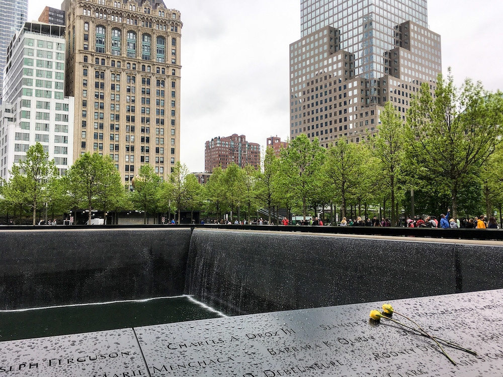 visiting the 9/11 memorial requires showing respect