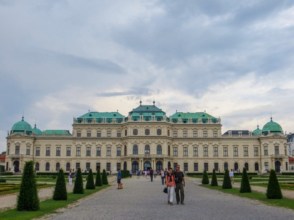 solo travel in vienna at belvedere