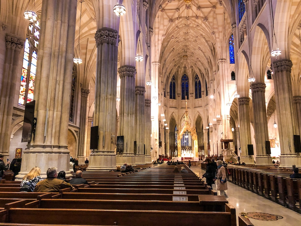 new york in 2 days itinerary means stopping at cathedrals