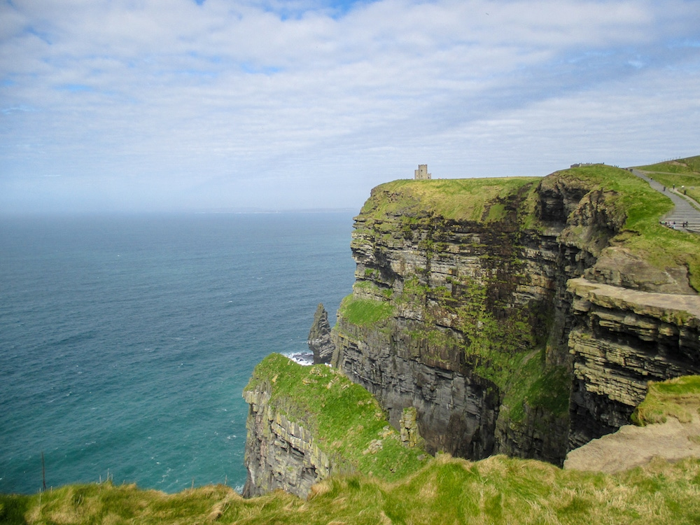 ireland in april means winds at the cliffs