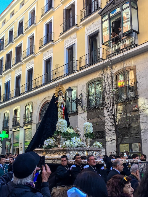 go to madrid in april for easter parades