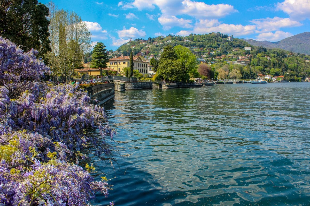 is lake como worth it? yes to cross this lovely bridge