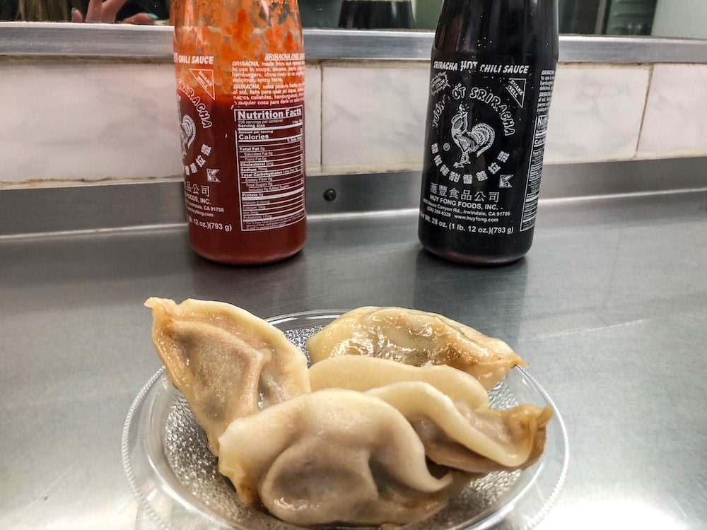 stop for fried dumpling in chinatown