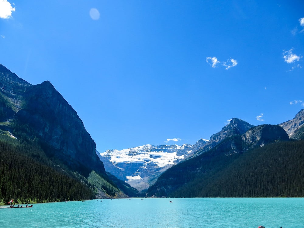 lake louise is a delight in summer
