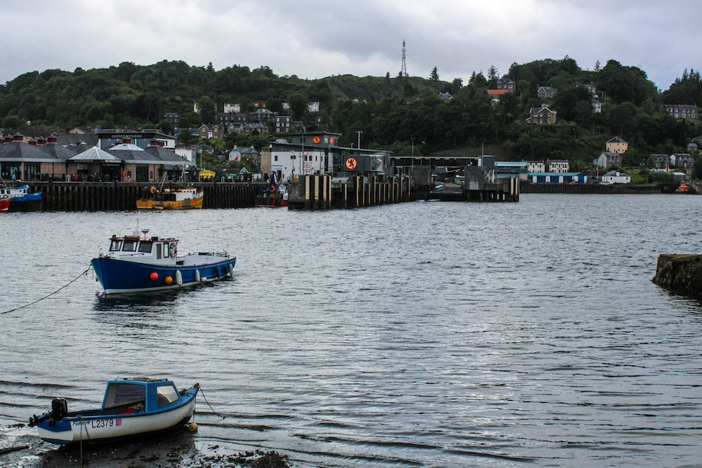 oban's fishing harbor is great for a walk