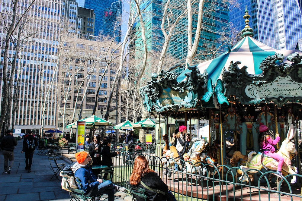 bryant park is one of the best things to do in nyc in march