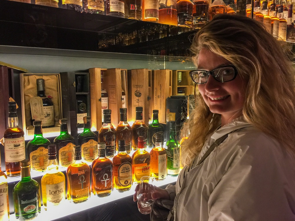 solo travel in ediburgh doesn't get much better than whisky