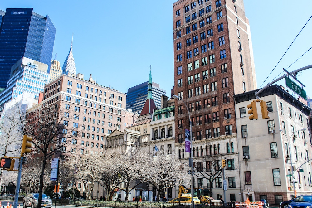 visiting new york in march on a sunny day