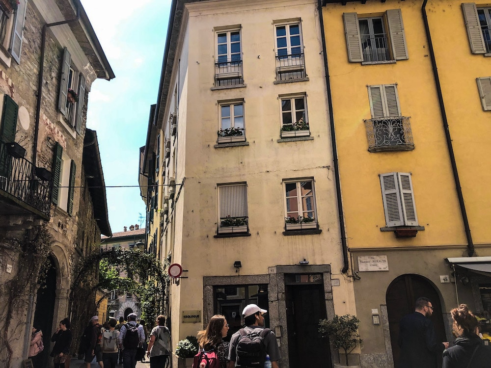 a stroll in como city center in italy