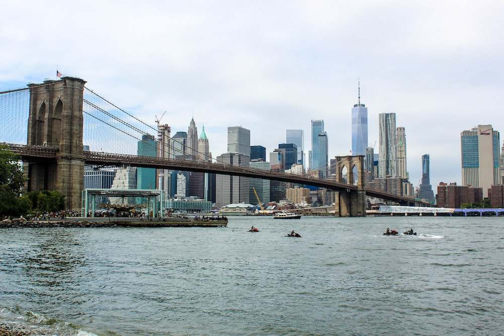 the brooklyn bridge is free and near the financial district