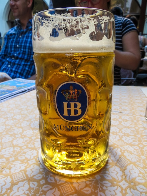 sampling the beer is a great thing to do alone in munich