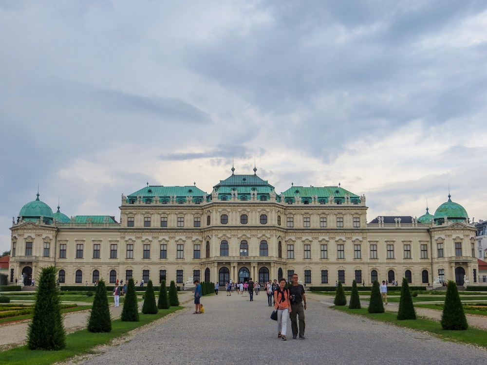 the belvedere is one of my favorite palaces in vienna