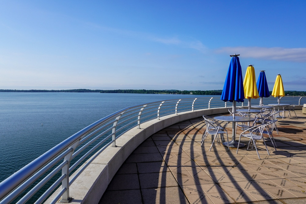 stroll on the terrace with time alone in madison