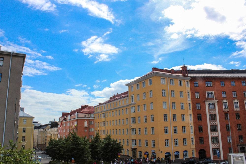 bright blue skies in helsinki happen in summer