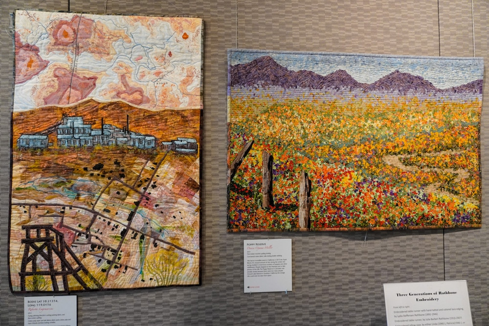 lovely art inside the museum at pleasanton
