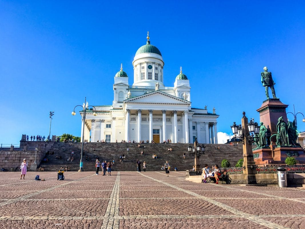 stunning helsinki cathedral in finland