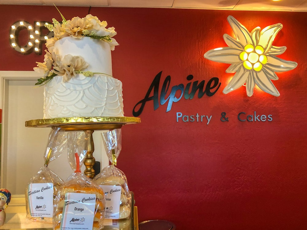 eating cakes at alpine bakery was lovely