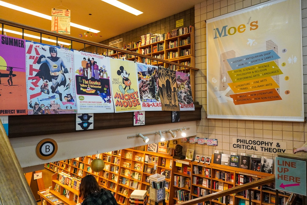 make sure to visit moe's for a historic bookstore