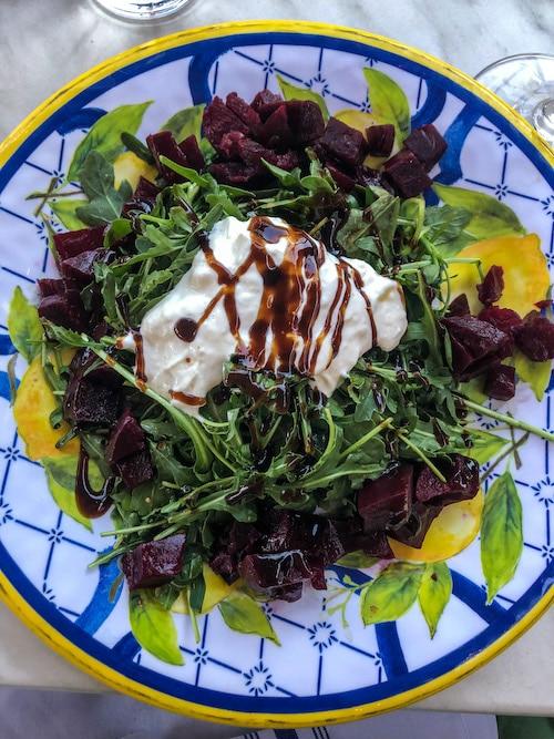 yummy salad at locanda in pleasanton