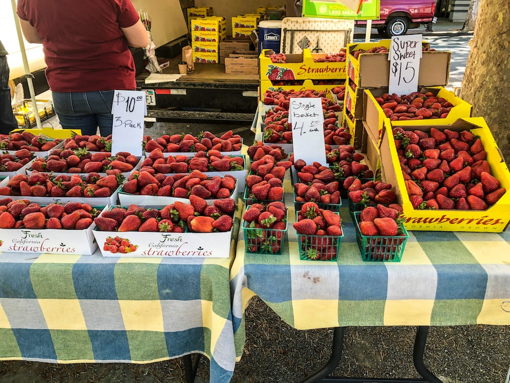 solo trip to concord ca tip: eat well at the farmer's market