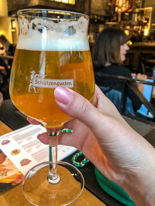 enjoying a beer in beautiful st gallen
