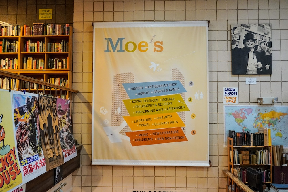 shopping at moe's is one of the nicest things to do alone in berkeley