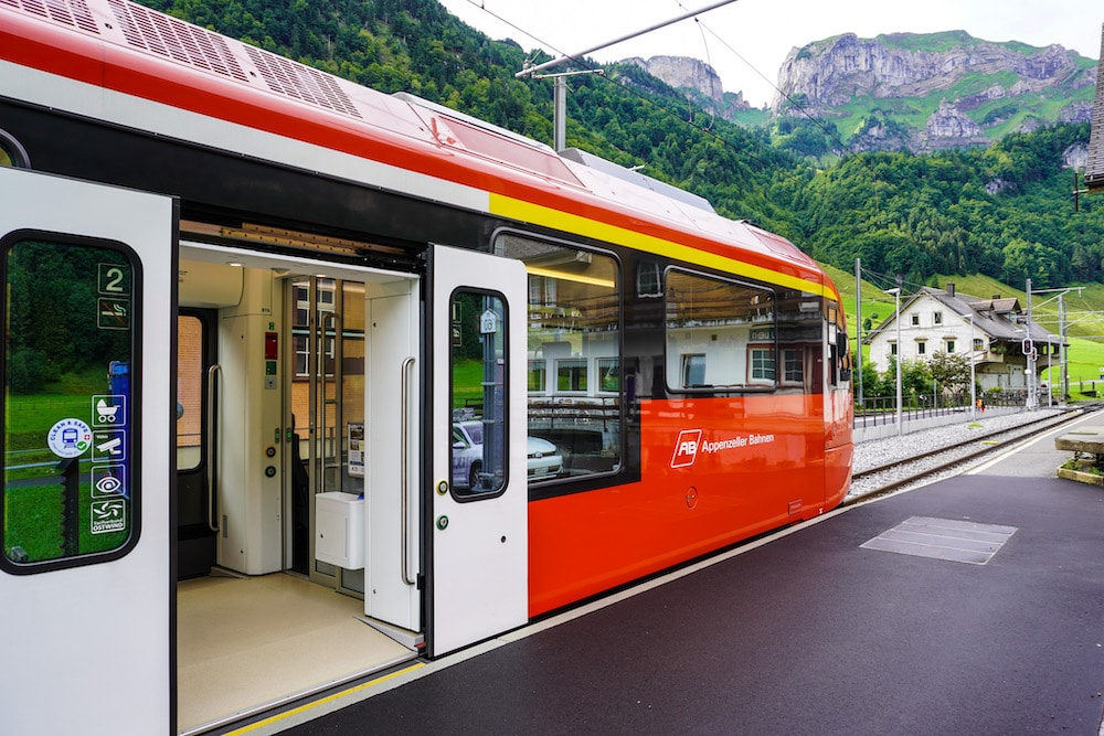 this local train will take you between st. gallen and appenzell
