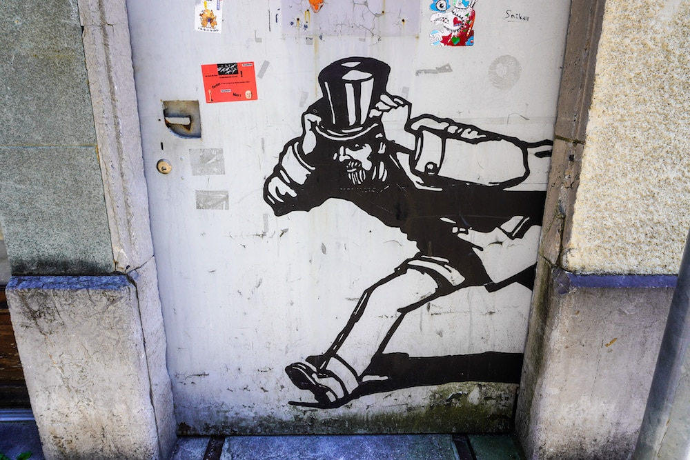 quirky street art along the shores of geneva