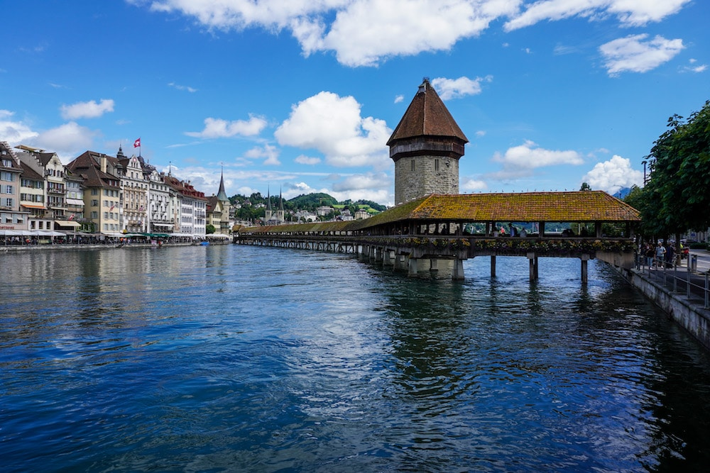 """chapel bridge is a """"must see"""" with one day in lucerne"""