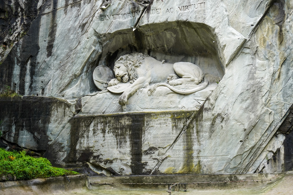 lion monument is one of the top stops in lucerne